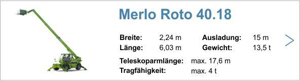 Vermietung Merlo 4030